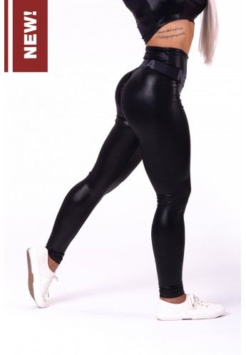 "High waist ""Sandra D"" glossy leggings 656 - NEBBIA"
