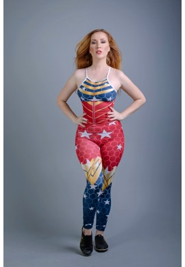 Wonder Woman Jumpsuit Blue (MA88788) - Madame Hardcore