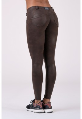 Leather Look Bubble Butt pants 538 - NEBBIA