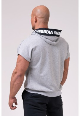 NO LIMITS Rag top with a hoodie 175 - Nebbia