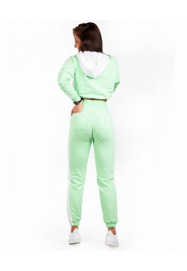 Conjunto Fleece Stay Home Mint (C1180+C1181) - Let'sGym