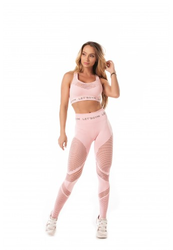 Conjunto Seamless Stylish Pink (T1007A + L1006A) - Let'sGym
