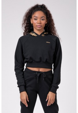 Golden Cropped hoodie 824 - Nebbia