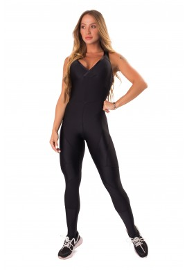 Jumpsuit Active Shine Black (M1245) - Let'sGym