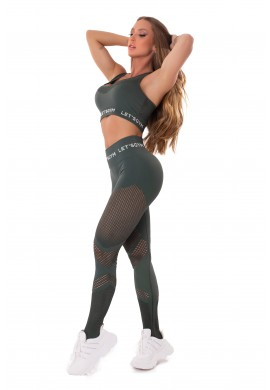 Seamless Stylish Green Set (T1007A + L1006A) - Let'sGym