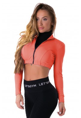 Cropped Style Trend Coral (C1152) - Let'sGym