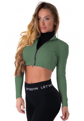 Cropped Style Trend Green (C1152) - Let'sGym